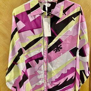 New Averardo Bessi  Pucci Style 100% Silk Blouse
